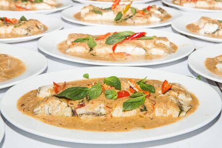 pla: Thai food is name chu chi pla, Stock Photo