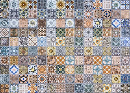 ceramica: azulejos patrones de cerámica de Portugal. Foto de archivo