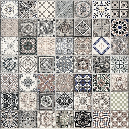 seamless tile: ceramic tiles patterns from Portugal.