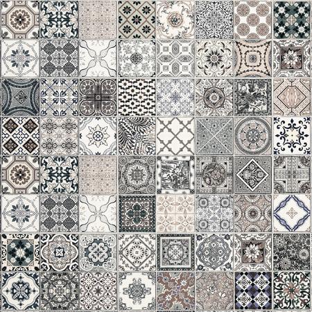 azulejos patrones de cerámica de Portugal.