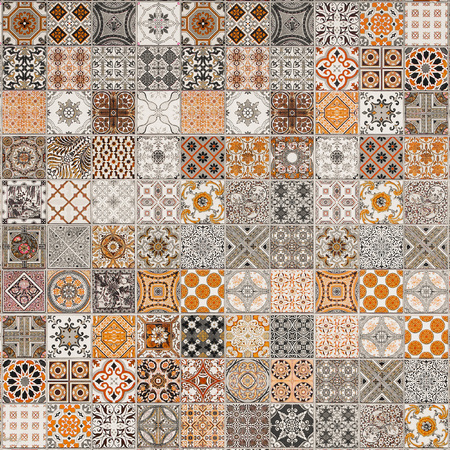 abstract art: ceramic tiles patterns from Portugal.