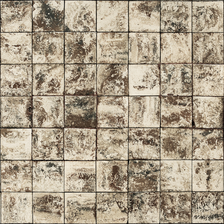 handcraft: Old wall ceramic tiles patterns handcraft from thailand parks public Stock Photo