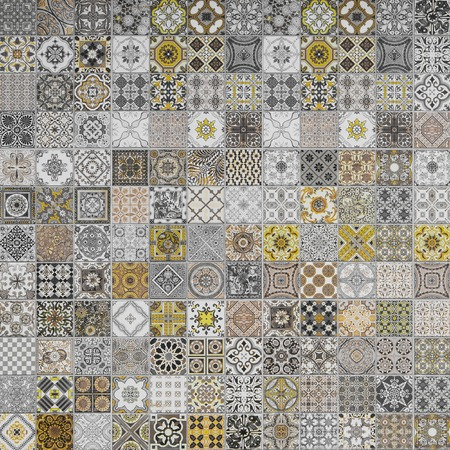 exterior architectural details: ceramic tiles patterns from Portugal.