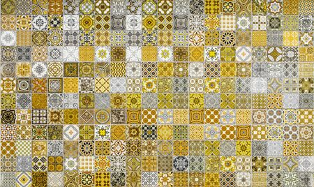 ceramic tiles: Ceramic tiles patterns from Portugal yellow tone