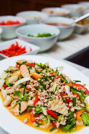 quid: Spicy mixed seafood.delicious spicy seafood thai food