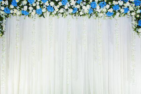 tela blanca: telón de fondo floral con tela blanca
