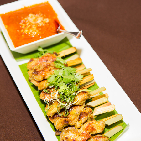 chicken satay: chicken satay
