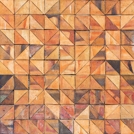 earthenware: Old vintage earthenware wall tiles patterns wall house design wall design Stock Photo