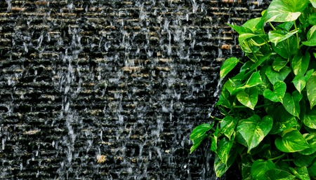 manmade: Picture Of Water Flowing Down A Man-made Waterfall.