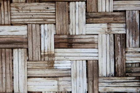 basketry: Native Thai style bamboo wall. Bamboo pattern basketry handmade Stock Photo