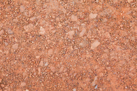 red soil: Image of red soil texture and background Stock Photo