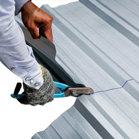 rectilinear: Zinc scissors by hand rectilinear for construction work