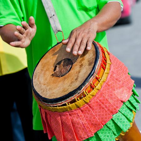 thai musical instrument: Thai musical instrument Thai tom-tom drum and hands