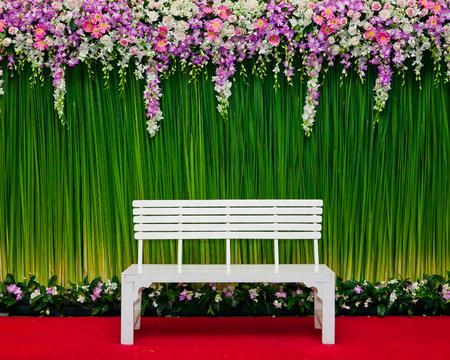 wedding backdrop: backdrop flowers arrangement for wedding ceremony and event