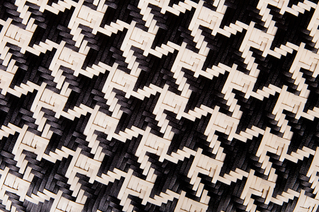 interweave: Texture of wicker and color black and white for background Stock Photo