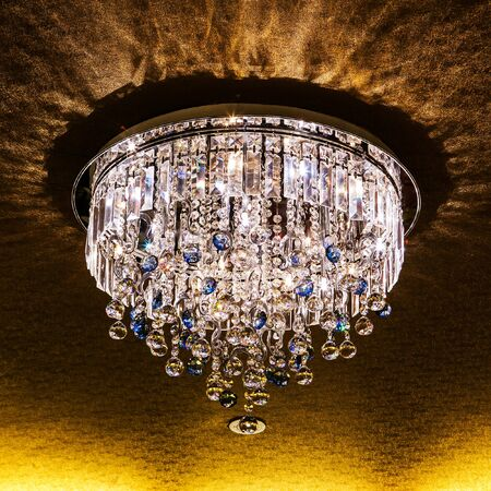 Luxury Chandelier in the room at hotel