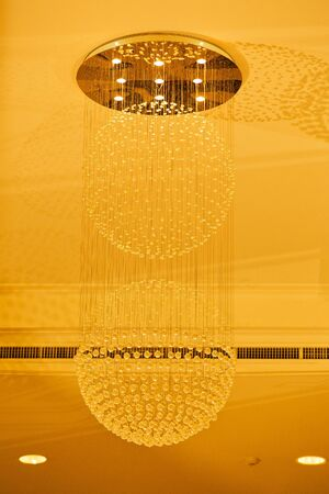 pendant lamp: Luxury Chandelier in the room at hotel