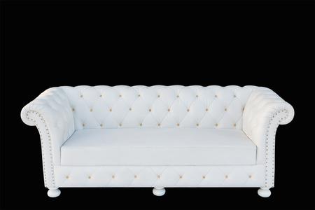 white sofa: Image of a modern white leather sofa isolated