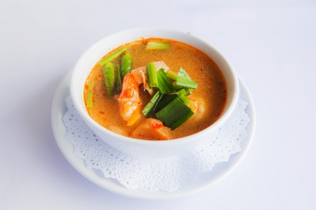 favorite soup: prawn and lemon grass soup with mushrooms