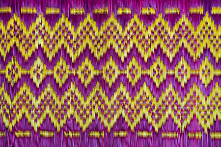 Thai fabric pattern for  texture and Backgrounds Stock Photo