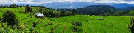 Verbod Papongpieng Rijstterrassen, Chiang Mai, het Noorden van Thailand Stockfoto