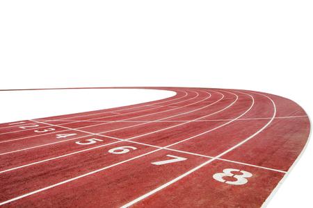 Esecuzione di sfondo pista da corsa con spazio bianco della copia