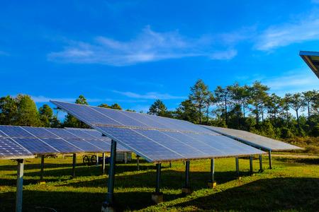 solar panel on blue sky background Archivio Fotografico - 115530472