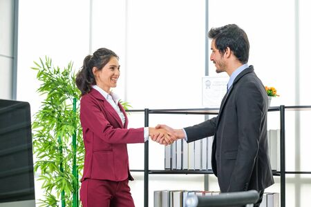 Handshake of business partners. partnership in business concept