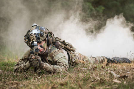 United States Army rangers during the military operation Standard-Bild