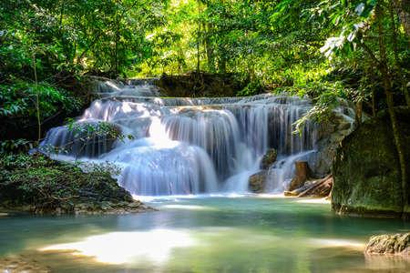 Erawan Waterfall Floor 1 in National Park, Thailand