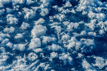 unevenly: Unevenly frozen ice surface.