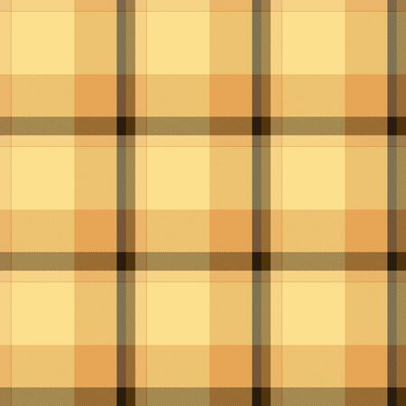 antiquated: Yellow and brown, old-fashioned dishtowel. Seamless tile.