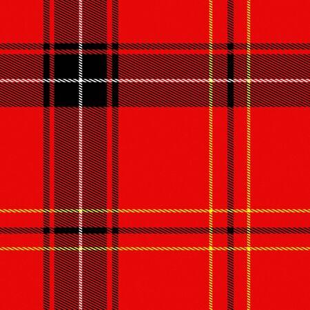 scot: Piece of red and black tartan fabrics. Seamless tile.