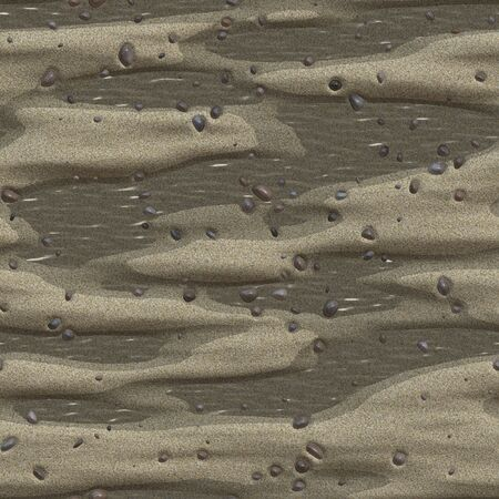 Sandy beach with some stones - seamless tile. Stock Photo - 1334819