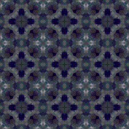 Church window pattern in different shades of blue. Seamless tile. Stock Photo - 1334837