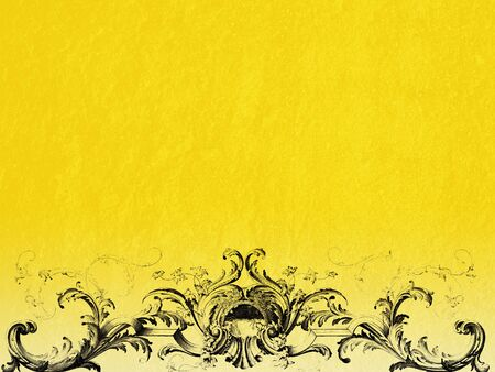 barque: Yellow background with black barque ornaments