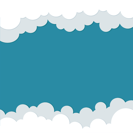 sky clouds: Icons cloud for your design. space for text. flat illustrations