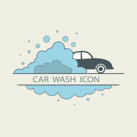 car wash: Car wash design layout. Corporate vector symbol concept. template icons. flat illustrations Illustration