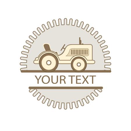 Tracteur créatif pour votre conception. icône de conception plate Banque d'images - 65646307