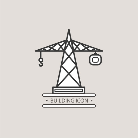 terrain: Construction crane. Vector icons for your design. Illustration