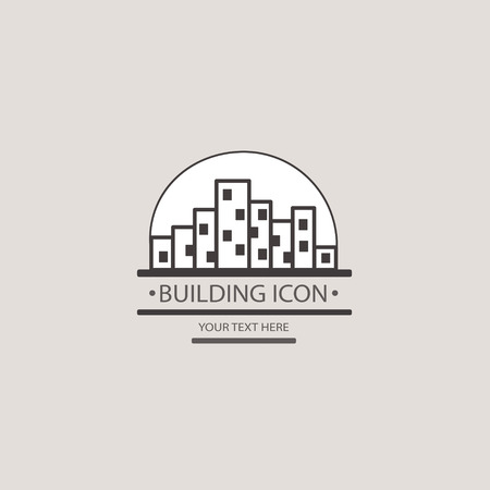 city block: Buildings vector icon for your design. Construction of a city block.