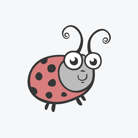 ladybird: Vector icon ladybird. Flat illustration for your design