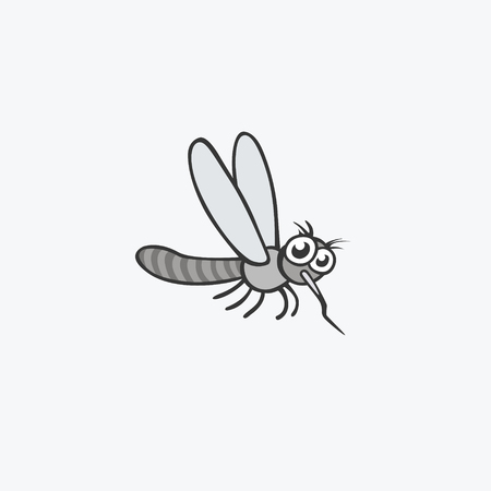 Funny mosquito. Flat Vector icons for your design