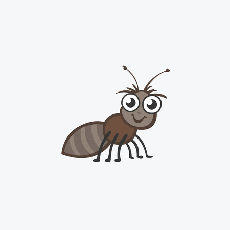 invasive: Funny ant. Flat Vector icons for your design