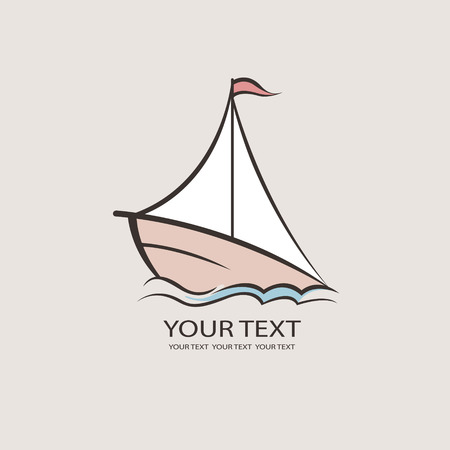 mariner: Nautical theme icon. Boat Brand Identity for Boating Business