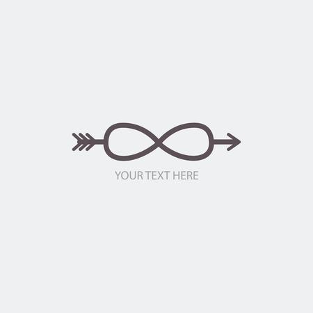 reverberation: Infinity symbols. Vector illustration for your design
