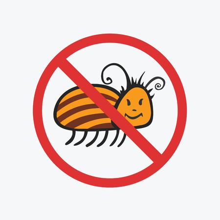 colorado: Funny Colorado potato beetle. Flat Vector icons for your design