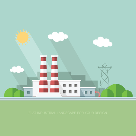 lpg: Plant for the extraction and processing of oil and gas. storage in tanks and barrels. Vector flat style Illustration