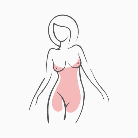 イブニング ドレスの女の子のセクシーなフィットネスの図。親密なセクシーな女性、モデルのポーズで。素敵な弾性お尻ビキニ ゾーン。デザイン、