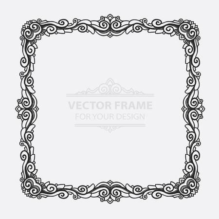 certificate template: Vintage vector set retro frame, cards. Floral royal engraving design labels advertising place for text.